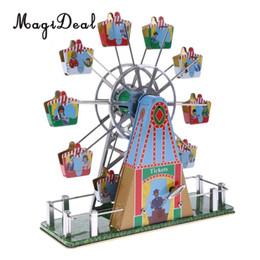 2019 juguetes de ruedas para adultos 1 Unidades Vintage Musical Ferris Wheel Clockwork Tin Toy Clásico Wind-up Toys Regalo para Niños Niños Adulto Hogar Escritorio Mesa Decoración SH190913 rebajas juguetes de ruedas para adultos
