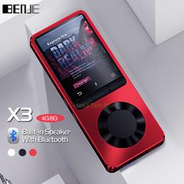 скачать mp3 Скидка Benjie X3 Металл Bluetooth Mp3-плеер Портативное аудио 4 ГБ 8 ГБ Музыкальный плеер со встроенным динамиком Fm-радио, рекордер, электронная книга, часы