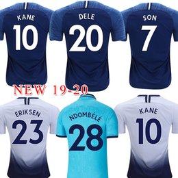 camiseta de fútbol naranja Rebajas Tailandia KANE kit de Jersey del fútbol 2019 2020 camisetas de LUCAS ERIKSEN DELE hijo de 19 20 uniformes de fútbol camisa de los hombres + Ndombele niños