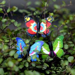Mini 8pcs Decorazione farfalla decorazione forniture muschio micro paesaggio deco Garden deco Artigianato creativo cheap garden decorations butterflies da farfalle decorazioni da giardino fornitori