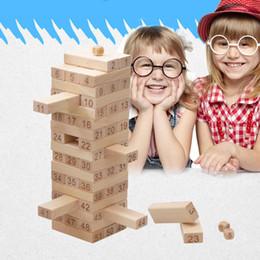 Argentina Envío gratis Intelectual Toy 51 UNIDS Qality Bloques de Construcción de Madera de Haya Digital Niños Juguetes Juguetes Regalos de Niños y Niñas Suministro