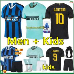 Camisa da inter de milão on-line-Tailândia ICARDI LAUTARO Martinez SKRINIAR 2019 2020 Inter soccer jersey camisa de futebol Inter Milan Mens crianças jérsei campeão da liga 19 20 kit de futebol