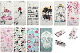 rainbow wallet case Coupons - 3D Leather Wallet Case For Iphone XR XS MAX X 10 8 7 6 SE 5 Huawei P30 Pro Y6 Y7 2019 Rose Unicorn Panda Swan Rainbow Heart Love Flip Cover