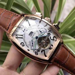 2019 механические часы турбийона Бренд Мужские часы FM Автоматические механические часы Tourbillon Высокое качество Royal Oak Кожаный ремешок ro Мужские повседневные часы Franck Business Watch дешево механические часы турбийона