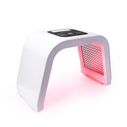 Luz led para el tratamiento de la piel online-Pro 7 colores LED Máscara de fotón Terapia de luz PDT Lámpara Tratamiento de máquina de belleza Piel Apriete Eliminador de acné facial Antiarrugas