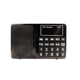 Portátil FM / AM / SW Radio, Radio bolsillo reproductor de música con entrada AUX / Max Soporte de tarjeta de 32GB TF desde fabricantes
