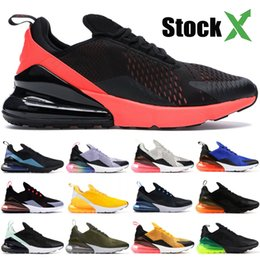 bright shoes Promo Codes - New 270OG Bred running shoes for men women Throwback Future be true black hot punch bright crimson dusty cactus mens designer sneakers 36-45