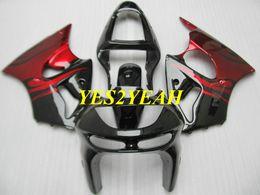 1999 kawasaki zx6r scarpe rosse Sconti Kit carrozzeria carena per KAWASAKI Ninja ZX6R 636 98 99 ZX 6R 1998 1999 ABS Rosso lucido nero Carenature Carrozzeria + Regali KP13