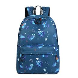 Bonitos mochilas menina faculdade on-line-Novo tecido impermeável Mulheres Backpack Cat animal bonito padrão de impressão Girls College Mochila Grande Capacidade