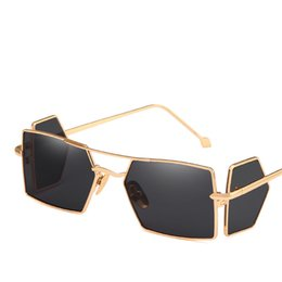 0ea53138db1 Unique Four Lens Sunglasses Women Metal Frame Hip Hop Sun Glasses Brand  Designer Eyewear Square Sunglass Retro Fashion Shades discount hip hop men  ...