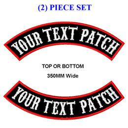 2019 patchs biker rocker Personnaliser Broderie Mc Rocker Patch 350mm Large Haut Bas Moto Biker Correctifs Pour Gilet Coupe Et Vêtements J190722 patchs biker rocker pas cher