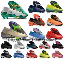 2020 Mercurial Superfly VII 7 360 Elite SE FG MDS 001 002 CR7 Ronaldo Neymar NJR Scarpe uomo di calcio dei ragazzi Scarpe da calcio tacchetti degli