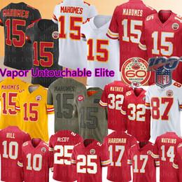 Jersey kansas on-line-Kansas 15 Cidade Patrick Mahomes Chefe Jersey 87 Travis Kelce 32 Tyrann Mathieu 17 Mecole Hardman Tyreek Hill LeSean McCoy Watkins Futebol