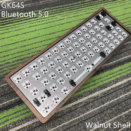 pcb bluetooth Rabatt GK64 S Kit de teclado GK64 GK64S caja de madera CNC placa PCB con Kabel Bluetooth 2 vendidos