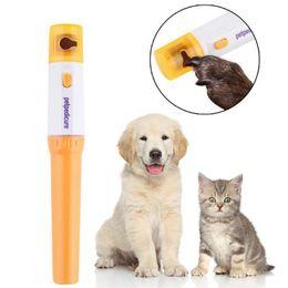 Tagliare gli artigli dei gatti online-Pet elettrodomestici chiodo dell'animale domestico elettrico Clippers indolore chiodo per il corredo di Scissor Cut Trimmer Pet Grinding Grooming Cani Gatti Animali zampa Nail