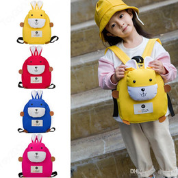 2019 mochilas de conejito de chicas Mochila de dibujos animados 3D Bunny para mochilas de diseñador de jardín de infantes Tejidos suaves Mochila para bebés Mochilas escolares para niñas 1-5T mochilas de conejito de chicas baratos