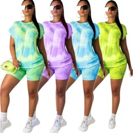 hot yoga pants shorts Coupons - women designer tracksuit short sleeve outfits hoodie shorts 2 piece set skinny sweatshirt short tights sport suit pullover pants hot klw1364
