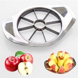 Le mele tagliate a coltello online-Acciaio inossidabile taglierina di Apple di verdure della lama della frutta affettatrice taglio Carotiere cucina che cucina strumenti di elaborazione cucina taglio Coltelli EEA850