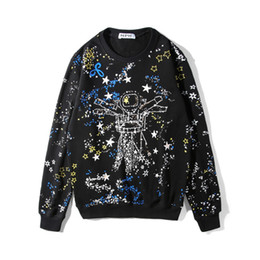 2018 Горячие продать новый модный бренд мужская женская пальто куртка космический звездное небо печати свитер толстовки повседневная спорт с длинным рукавом толстовка от