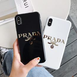 Cajas del teléfono celular chapado en oro online-Una pieza de lujo caja del teléfono del diseñador para iphone 6/7/8 más xs max / XR TPU chapado de oro de alta calidad cubierta del teléfono celular stunk envío de la gota hacia atrás