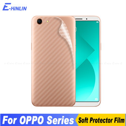 oppo a57 covers Promo Codes - 3D Carbon Fiber Back Cover Screen Protector For Oppo A83 A79 A77 A73 A73t A71 A59 A59S A57 A39 A37 A30 Sticker Protective Film