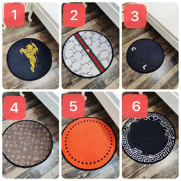 living room mats rugs Promo Codes - 2019 brand new black white Round Rug Carpets for Living Room popular round Children Bedroom Rugs computer Chair Floor Mat