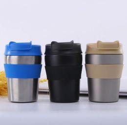 Deutschland Großhandel heißer verkauf Kaffee Wasserflasche Mini Tragbare Doppelschicht Edelstahl Vakuum Thermosflasche 280 ml 20 stücke Versorgung