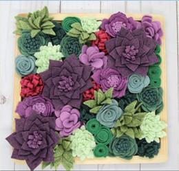 2019 variedades de flores 2019 nova mistura de lã sentiu flores | Kit de Jardim Suculento DIY | 40 pcs Flores | 10 variedades diferentes desconto variedades de flores