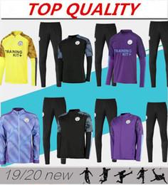 treno della città Sconti 2019 KUN AGUERO tuta da allenamento calcio maglie da calcio maglione 19/20 Manchester City città giacca da calcio tuta da jogging chandal futbol