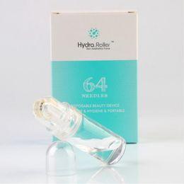 Rodillo de aguja de titanio online-64 Micro agujas Derma Roller Titanio con botella Auto suero Infusión Hydra Roller Ácido Cuidado de la piel Anti arrugas Acné Reducir el poro 10pcs / lot