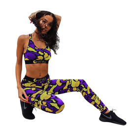 2019 fato de treino Ethika Mulheres Fatos de Treino Tops de Culturas Calças 2 pcs Designer Ternos Slim Fit Conjuntos de Roupas de Yoga Esportes fato de treino barato