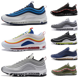 ba3c87d8aaf pull Tab sail pink silver bullet 97 97s shoes Women Mens Running Shoes Blue  Nebula designer trainers sneakers mens sports shoes
