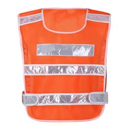 2019 uniformes de segurança 1 PCS Colete de Segurança Sólida Tráfego Da Motocicleta Night Rider Refletivo Jaqueta de Segurança Sportswear Ciclismo Ao Ar Livre Coletes Uniformes uniformes de segurança barato