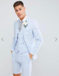 46 short suit Promotion Beaux jeunes hommes costumes de smokings de mariage (blazer + pantalon court + gilet) costumes de blazer de mode pour la soirée de bal de finissants mariages sur mesure