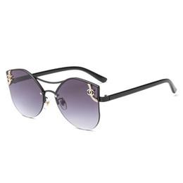 Модные солнцезащитные очки без оправы женские дизайнерские солнцезащитные очки нового цвета с бриллиантами для женщин UV400 от