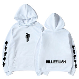 Kpop hoodies on-line-Venda quente Billie Eilish Imprimir Homens Com Capuz / Mulheres Roupas Populares 2019 Harajuku Casual Hoodies Kpop Moletom Plus Size XXXL