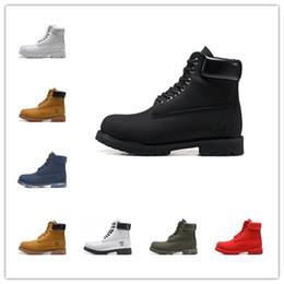Moda Tasarımcısı TBL Çizmeler Erkekler Kadınlar Için 10061 Klasik Siyah Buğday Beyaz Ordu Yeşil Erkek Kış Çizmeler Iş Ayakkabıları Boyutu 36-45 nereden