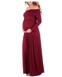 Mutterschaft Maxi-Kleid Fotoshooting Mutterschaft Kleid Schultern Kleid Fotografie Requisiten DW959 von Fabrikanten
