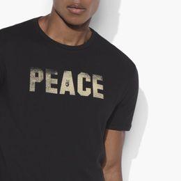 Maglietta calda degli uomini neri online-Maglietta classica da uomo John Varvatos Star USA Liberty Freedom Graphic T-shirt nera NWT Taglia Discout Hot New Tshirt T-shirt classica RETRO VINTAGE