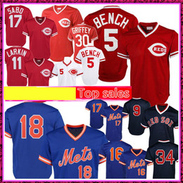 2020 johnny banco 5 Johnny Bench 11 Barry Larkin Jersey 18 Darryl Strawberry 17 Hernandez 9 Ted Williams 34 David Ortiz Jerseys johnny banco barato