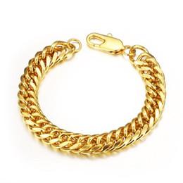 2019 brazaletes de oro baratos 18k pulseras 18 K chapado en oro pulseras hombres pulsera de cadena cubana brazalete Vintage lujo hombres mujeres Hip Hop joyería barata venta al por mayor brazaletes de oro baratos 18k pulseras baratos