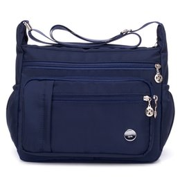 a2b50a584c Small Wome Shoulder Bags Female Zipper Luxury Designer Messenger Bag Flap  Mini Nylon Dames Tassen Beach Crossbody Bag Sac A Main