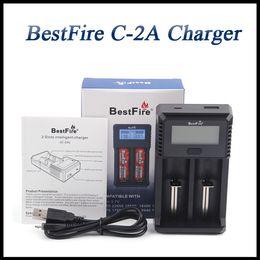 chargeurs de batterie modèle Promotion Chargeur BestFire C-2A authentique à 2 emplacements C 2A chargeur Inteligent numérique à chargement rapide pour chargeur de batterie Li-on 3.7V 26650 22650
