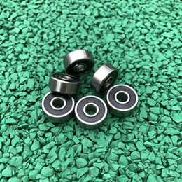9x24x7 mm Metal Black Rubber Sealed Ball Bearing 9 24 7 609RS 10pcs 609-2RS