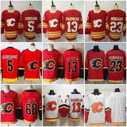 8e5dd3c30a1 flash 13 Coupons - 2019 New Mens Red Calgary Flames 13 Johnny Gaudreau  Jersey 23 Sean