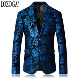329a822e11 Lozoga Blazer Men Luxury Designs Chinese Style Mens Blazers Slim Fit Suit  Jackets Velvet Party Wedding Stage Suit Plus Size 5XL discount plus size  chinese ...