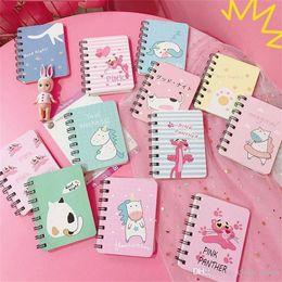 Koreanische notizbuchjournal online-2019 Nette Kawaii Notebook Cartoon Nette Reizende Tagebuch Planer Notizblock für Kinder Geschenk Korean Schreibwaren