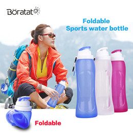 gefaltetes fahrrad Rabatt 500 ML Faltbare Sportflasche Silikon Falten Reiseflasche Trinken Camping Wasser Fahrrad