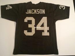 da39461ed Cheap Retro custom Sewn Stitched  34 Bo Jackson Black MITCHELL   NESS  Jersey Men s Football Jerseys College NCAA