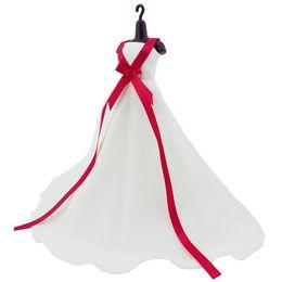 vestidos de barbie Desconto Princesa pura branco elegante vestido de baile de seda vestido de roupas para acessórios da boneca barbie